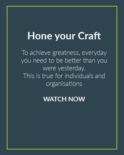 Hone your craft